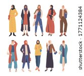 collection of stylish women... | Shutterstock .eps vector #1771124384