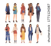 collection of young women... | Shutterstock .eps vector #1771124387
