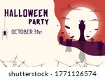 happy halloween flyer with a... | Shutterstock .eps vector #1771126574