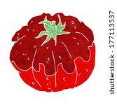 cartoon tomato   Shutterstock .eps vector #177113537