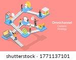 3d isometric flat vector... | Shutterstock .eps vector #1771137101