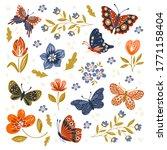vector hand drawn set of... | Shutterstock .eps vector #1771158404