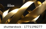 chaotic golden ribbons. vector... | Shutterstock .eps vector #1771198277
