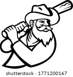 miner with baseball bat batting ... | Shutterstock .eps vector #1771200167