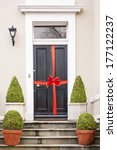 house just sold. door of a new... | Shutterstock . vector #177122237