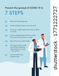 coronavirus poster   steps to... | Shutterstock . vector #1771222727