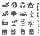 ecology icons set on white... | Shutterstock . vector #1771227554