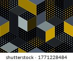 dotted seamless isometric...   Shutterstock .eps vector #1771228484