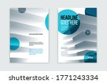 business brochure with office... | Shutterstock .eps vector #1771243334