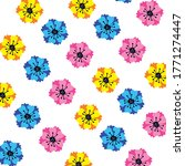 bright tropical floral ornament ... | Shutterstock .eps vector #1771274447