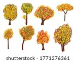 trees and seasons. hand drawn... | Shutterstock .eps vector #1771276361