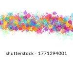 multicolored splash watercolor...   Shutterstock . vector #1771294001