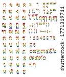 thai hand drawn consonants.thai ...   Shutterstock .eps vector #1771319711