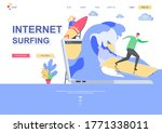 internet surfing flat landing...