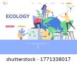 ecology flat landing page...