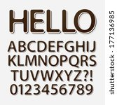 rounded vintage retro font and... | Shutterstock .eps vector #177136985