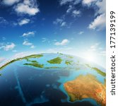 australia and south east asia.... | Shutterstock . vector #177139199