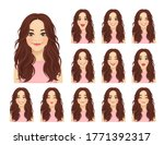 young beautiful woman with...   Shutterstock .eps vector #1771392317