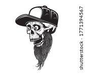 illustration of bearded skull... | Shutterstock .eps vector #1771394567