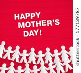 happy mother's day greeting... | Shutterstock .eps vector #177139787