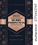 elegant minimalistic christmas... | Shutterstock .eps vector #1771412747