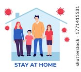 family stay at home... | Shutterstock .eps vector #1771415531