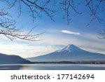 Mountain Fuji In Winter Morning ...