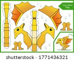 cut and glue paper 3d a... | Shutterstock .eps vector #1771436321