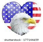 eagle america love heart... | Shutterstock . vector #177144659