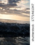 Small photo of Instantaneous photos of waves on Tanjung Aru Beach, Malaysia