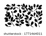 plant branches with leaves... | Shutterstock .eps vector #1771464011
