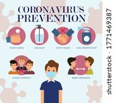corona virus prevention info... | Shutterstock .eps vector #1771469387