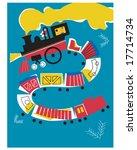 fun vintage train illustration | Shutterstock .eps vector #17714734