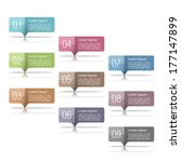 set of design elements with...