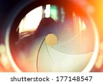 the diaphragm of a camera lens... | Shutterstock . vector #177148547