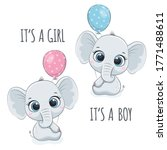 "cute baby elephant with phrase ""..."