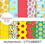 cute seamless summer pattern... | Shutterstock .eps vector #1771488857