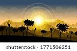 field nature background vector... | Shutterstock .eps vector #1771506251