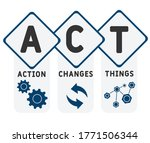 action changes things  act  ... | Shutterstock .eps vector #1771506344