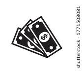 money banknotes vector icon ... | Shutterstock .eps vector #1771508081
