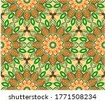 ornamental mandala design... | Shutterstock .eps vector #1771508234