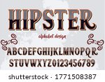 vintage font  typeface vector ... | Shutterstock .eps vector #1771508387