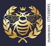 laser cut template. royal bee... | Shutterstock .eps vector #1771508591