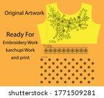 salwar kameez artwork for ready ... | Shutterstock .eps vector #1771509281