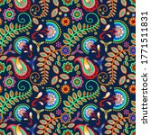 paisley seamless pattern. red ... | Shutterstock .eps vector #1771511831