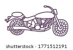 hand drawn motorcycle. cute... | Shutterstock .eps vector #1771512191