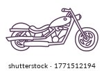 hand drawn motorcycle. cute... | Shutterstock .eps vector #1771512194