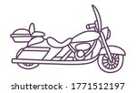 hand drawn motorcycle. cute... | Shutterstock .eps vector #1771512197
