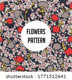 colorful flower pattern... | Shutterstock .eps vector #1771512641