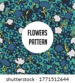 colorful flower pattern... | Shutterstock .eps vector #1771512644
